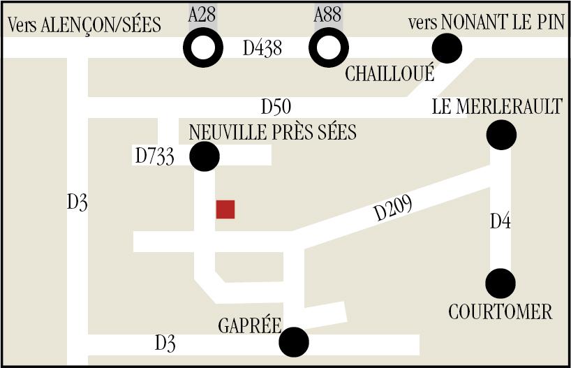 Plan accès Ecurie Louis Baudron